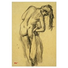 After the Bath, c.1891-92 (charcoal on yellow trac Poster
