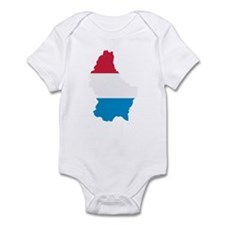 Luxembourg map flag Infant Bodysuit