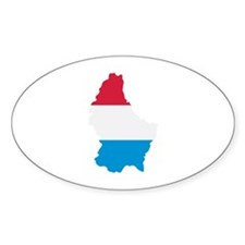 Luxembourg map flag Decal