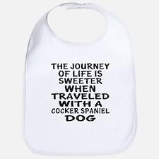 Traveled With Cocker Spaniel Dog D Cotton Baby Bib