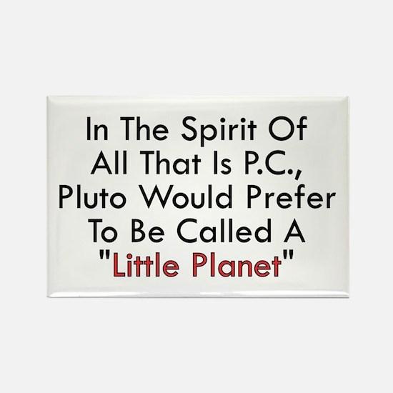 Pluto PC Little Planet vs Dwa Rectangle Magnet