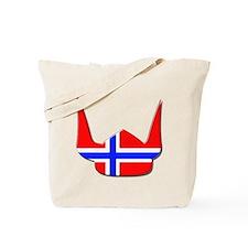 Norway Norse Helmet Flag Design Tote Bag