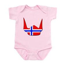 Norway Norse Helmet Flag Design Infant Bodysuit