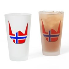 Norway Norse Helmet Flag Design Drinking Glass