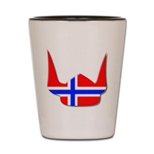 Norway Norse Helmet Flag Design Shot Glass
