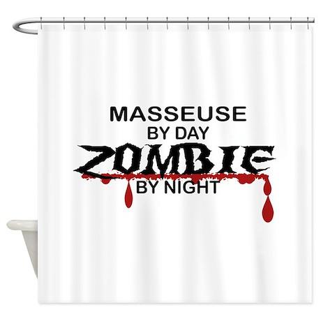 Masseuse Zombie Shower Curtain