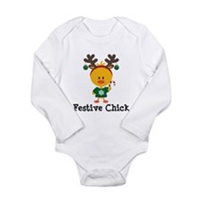 Festive Chick Long Sleeve Infant Bodysuit
