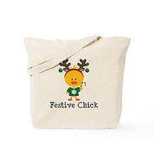 Festive Chick Tote Bag