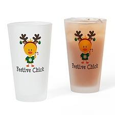 Festive Chick Drinking Glass