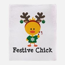 Festive Chick Throw Blanket