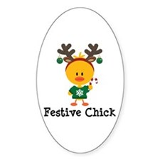 Festive Chick Decal