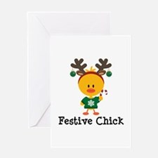 Festive Chick Greeting Card