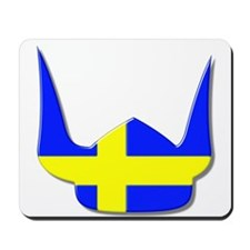 Sweden Swedish Helmet Flag Design Mousepad