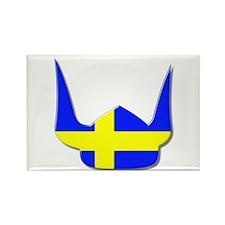 Sweden Swedish Helmet Flag Design Rectangle Magnet