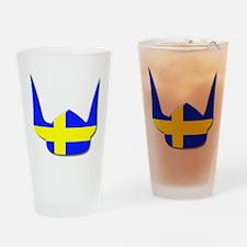 Sweden Swedish Helmet Flag Design Drinking Glass