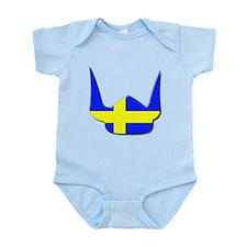 Sweden Swedish Helmet Flag Design Infant Bodysuit