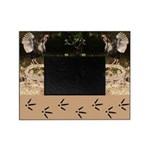Wild Turkeys and their Tracks Picture Frame