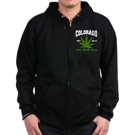 Colorado Cannabis 2012 Zip Hoodie (dark)