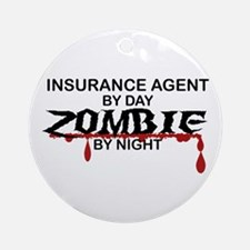 Insurance Agent Zombie Ornament (Round)