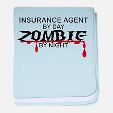 Insurance Agent Zombie baby blanket