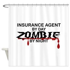 Insurance Agent Zombie Shower Curtain