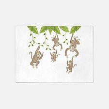 Monkey 5'x7'Area Rug