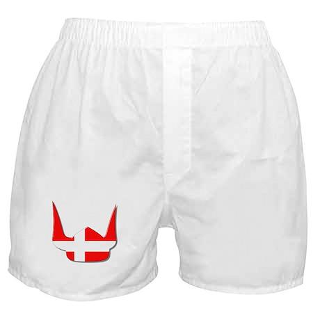 Denmark Dane Helmet Flag Design Boxer Shorts