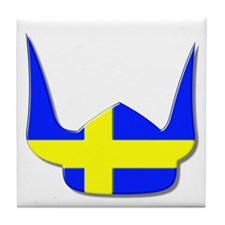 Sweden Swedish Helmet Flag Design Tile Coaster