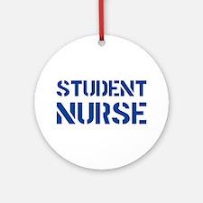 Student Nurse Stencil Ornament (Round)