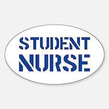 Student Nurse Stencil Oval Decal