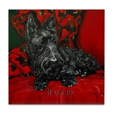 Haggis Scottish Terrier Tile Coaster