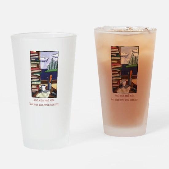 Read Write Drinking Glass