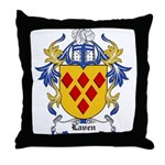 Laven Coat of Arms, Family Cr Throw Pillow