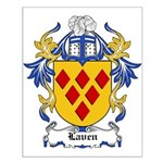 Laven Coat of Arms, Family Cr Small Poster