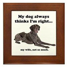 Pointer v Wife Framed Tile