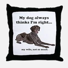 Pointer v Wife Throw Pillow