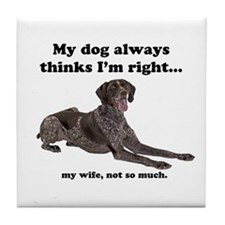 Pointer v Wife Tile Coaster