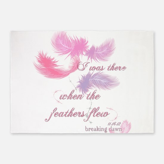 Breaking Dawn Feathers 5'x7'Area Rug