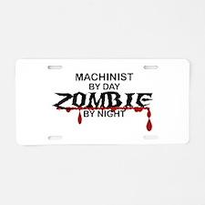 Machinist Zombie Aluminum License Plate