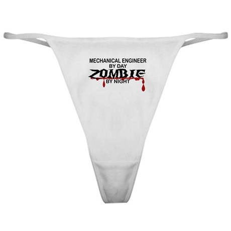 Mechanical Engineer Zombie Classic Thong