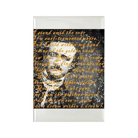 E A Poe A Dream Within a Dream Rectangle Magnet (1
