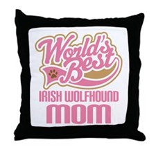 Irish Wolfhound Mom Throw Pillow