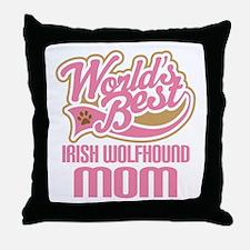 Irish Wolfhound Mom Throw Pillow
