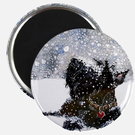 Scottish Terrier Christmas Magnet