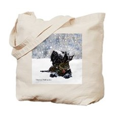 Scottish Terrier Christmas Tote Bag