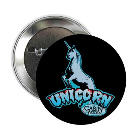 """Cabin in the Woods Unicorn 2.25"""" Button"""