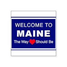 "Maine Love Square Sticker 3"" x 3"""