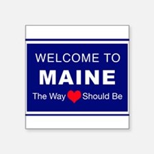 "Maine Love Square Sticker 3"" x 3"""