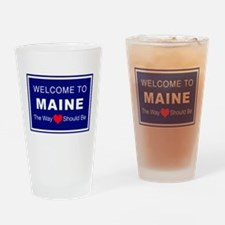 Maine Love Drinking Glass