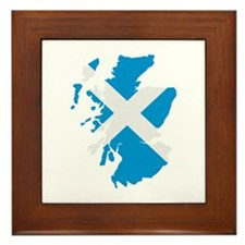 Scotland map flag Framed Tile